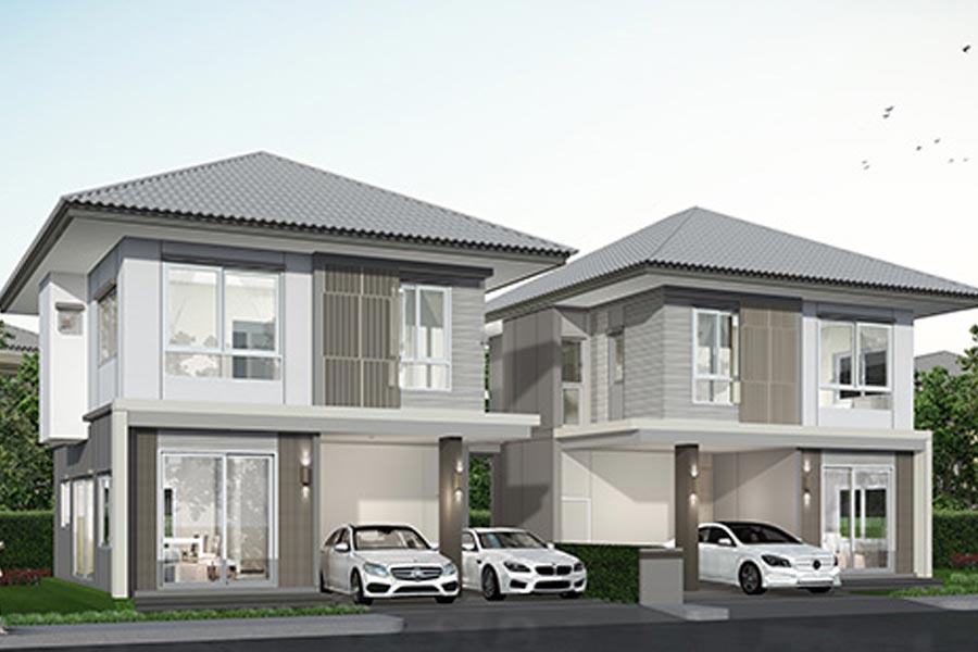 บ้าน มาย-กรีน @ 331 บ่อวิน – บ้านแฝด, แบบบ้าน