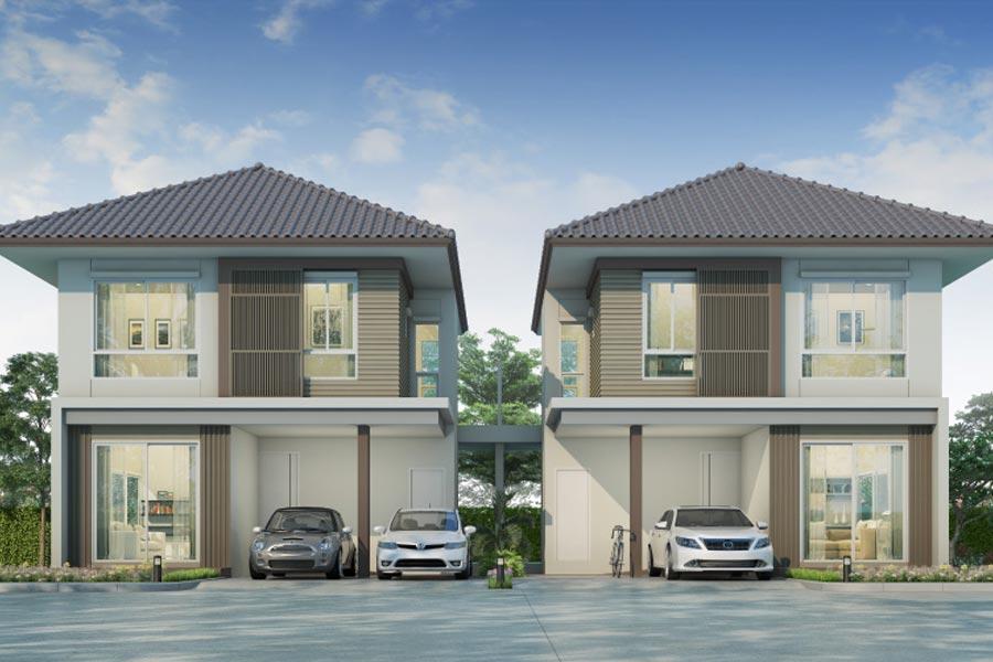 บ้าน มาย-กรีน @ บางสมัคร – บ้านแฝด, แบบบ้าน