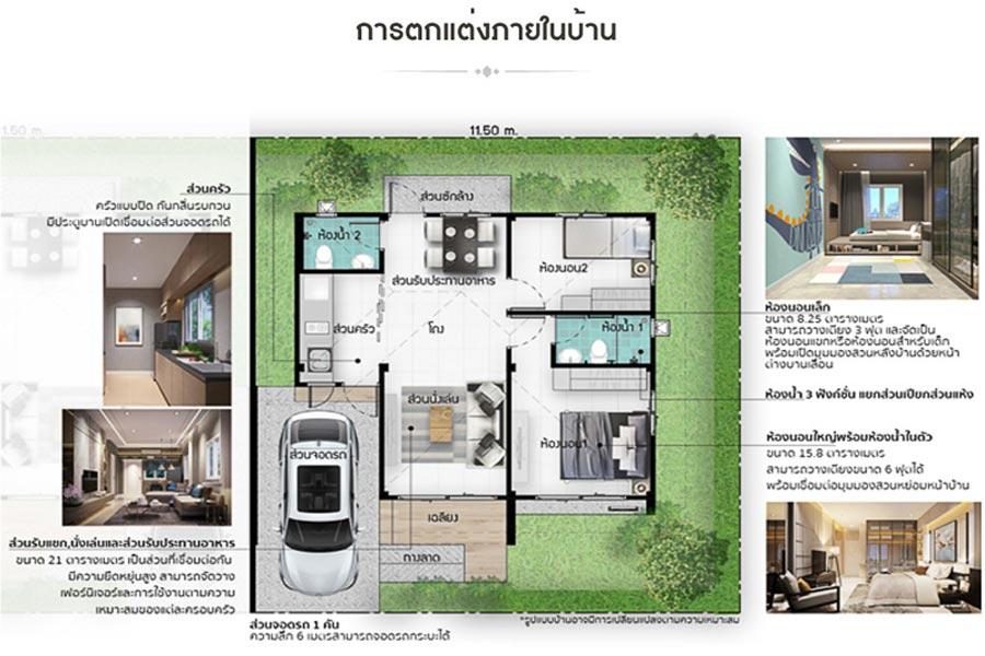 โครงการ มาย-กรีน @ ดิสทริก 304 – บ้านแฝด, แบบบ้าน